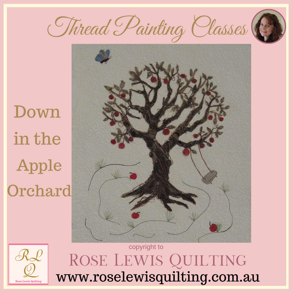Thread Painting Class - Down In The Apple Orchard