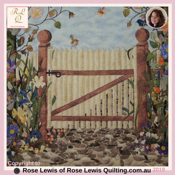 The Gate from Through the Garden Gate Quilt - Best of Show - Was also Judged within Best of Australia Awards