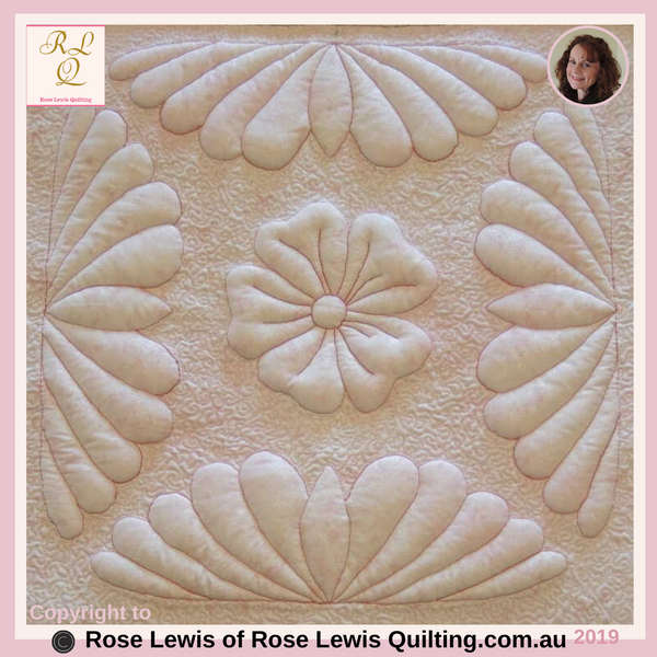 "Trapunto Quilting - Coconut Ice -  An ""In-Person"" Class"