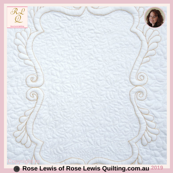 Quilting or Trapunto Quilting Pattern  A Frame of Gold - This is an on-line pattern that can be purchased - Rose Lewis Quilting