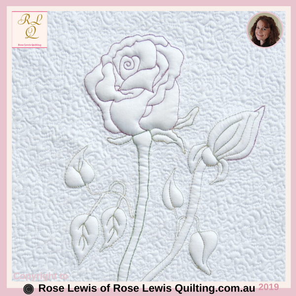 Quilting or Trapunto Pattern - This is an On-line Pattern that can be Purchased - Rose Lewis Quilting