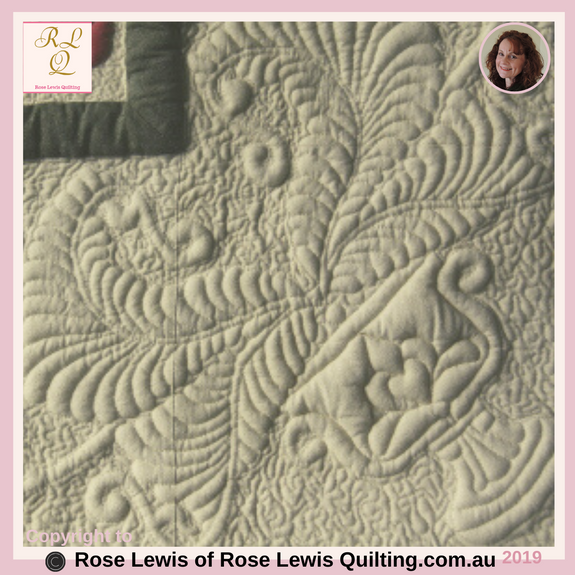 "Trapunto Quilted Urn - Placed within a corner of my ""A Caterpillars Dream"" quilt- Best of Show Quilt"