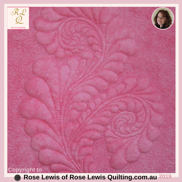 Quilting or Trapunto Pattern  - This is an On-line pattern that you're able to purchase on my website - Rose Lewis Quilting.com.au