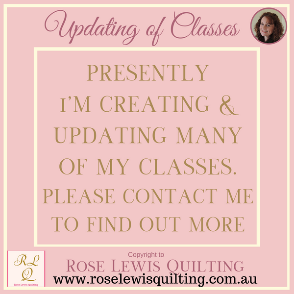 Presently I'm busy creating new In-Person teaching classes. These will be continually added to this page.
