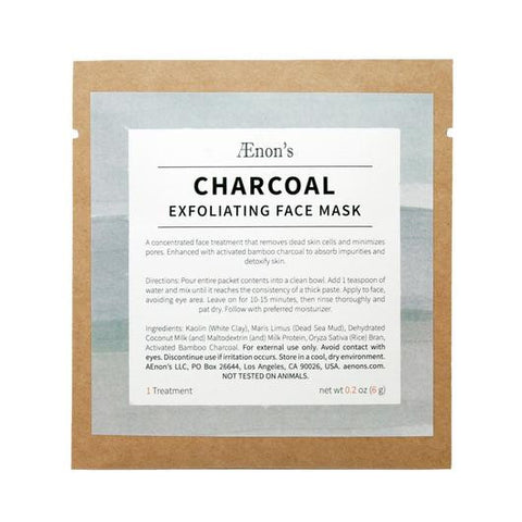 AENONS CHARCOAL Exfoliating Face Mask