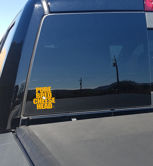 PUREBRED CHEESEHEAD™ DECALS