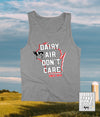 Funny Wisconsin Dairy Airy Don't Care® tank top