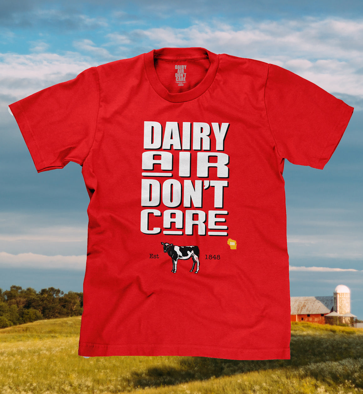 funny wisconsin dairy air shirt