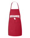 red wiscaaahnsin apron