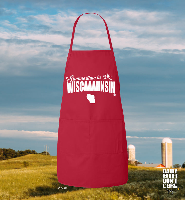 funny wisconsin apron
