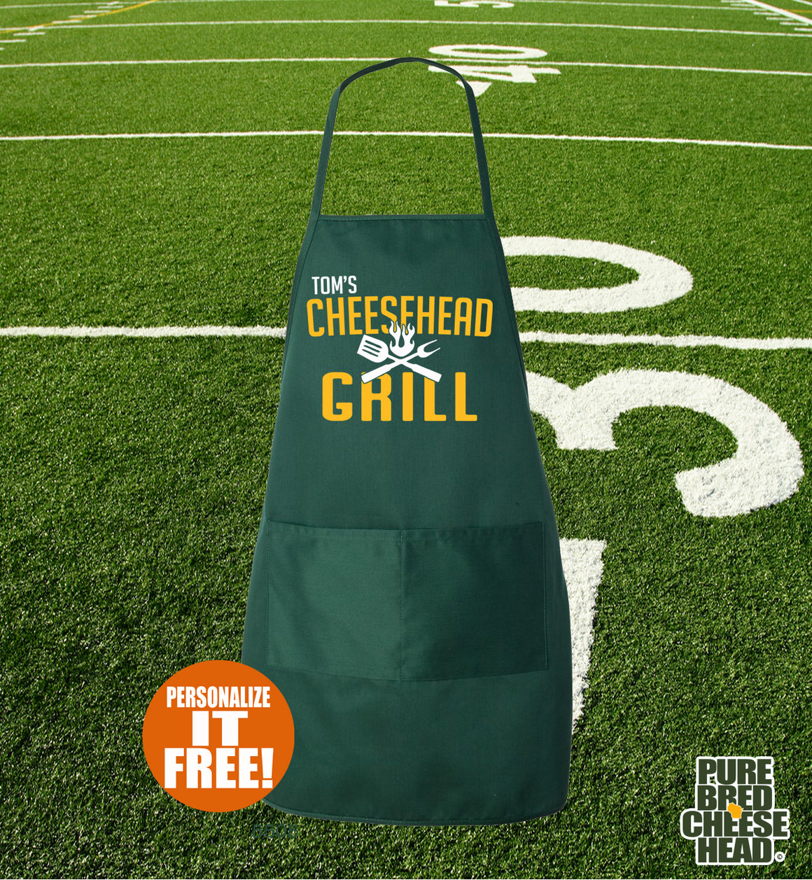 wisconsin cheesehead apron