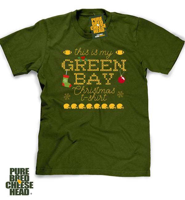 cheap for discount 54998 ee337 Green Bay Packer Ugly Sweater Christmas T-shirt