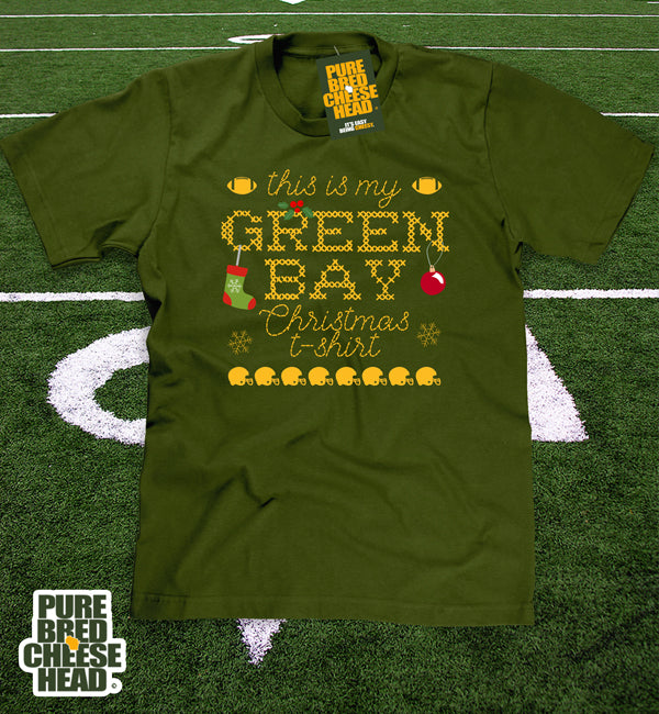Green Bay Packer Ugly Sweater Christmas T-shirt