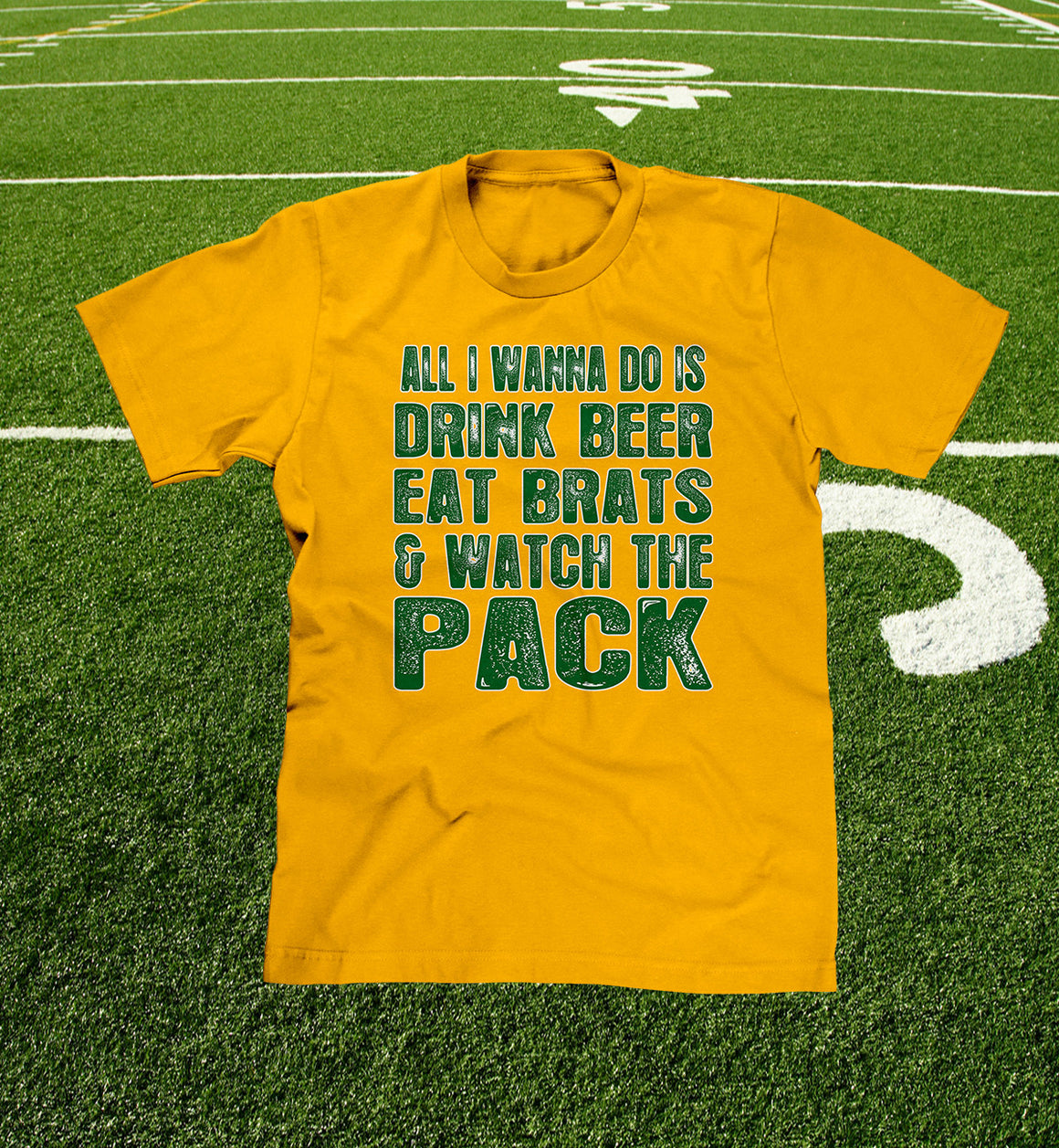 Wisconsin Beers, Brats & Packers T-shirt