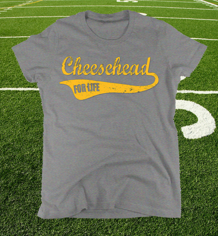 ladies cheesehead tee