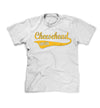 mens or youth cheesehead for life tshirt in white