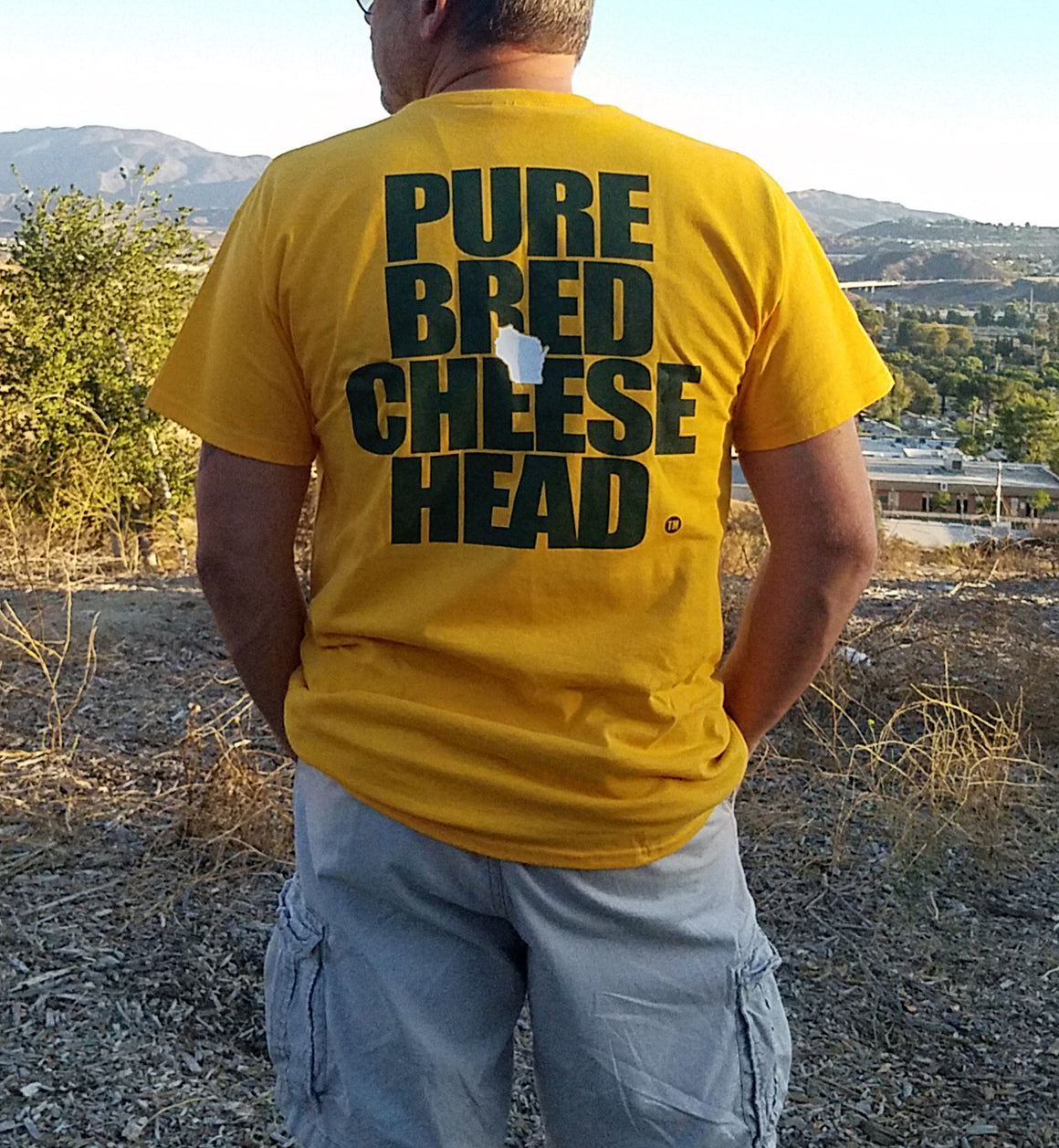 Cheesehead T-shirt in Green Bay Gold