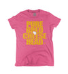 womens cheesehead t-shirt pink
