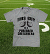 """this guy is a purebred cheesehead™"" t-shirt in heather grey"