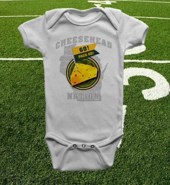 """cheesehead nation"" onesie from pbcheesehead.com"