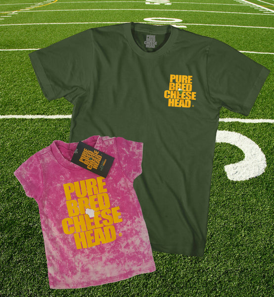purebred cheesehead™ father / daughter t-shirt set