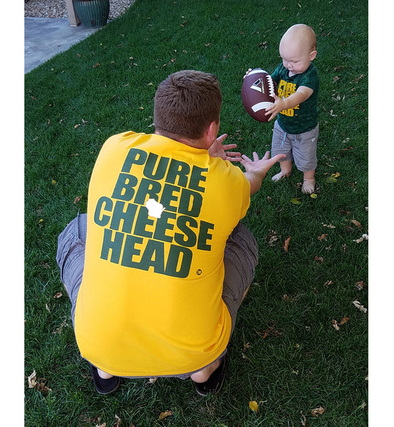 green bay gold unisex purebred cheesehead™ t-shirt