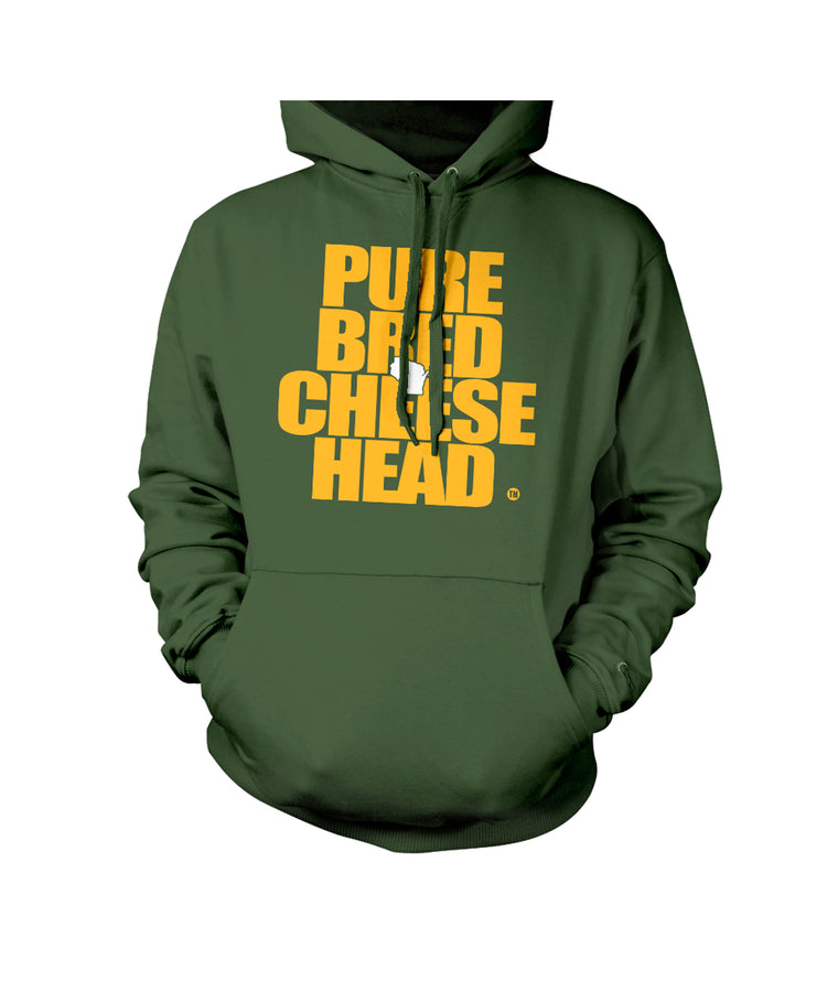 green cheesehead sweatshirt