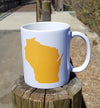 purebred cheesehead™ coffee mug rear view