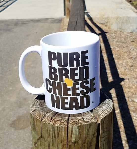 purebred cheesehead™ coffee mug front view