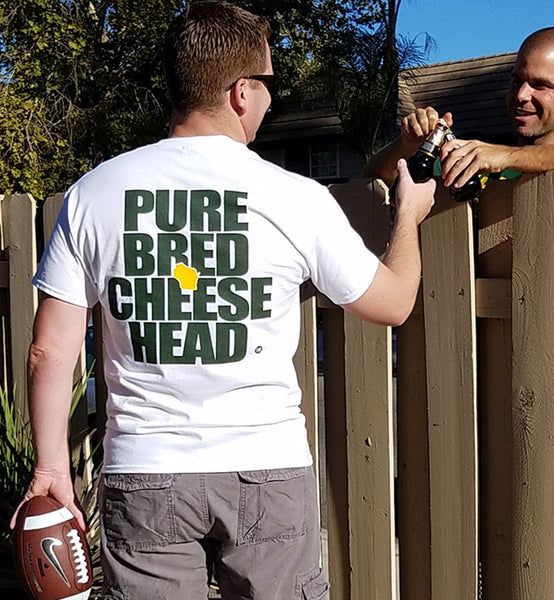 purebred cheesehead™ unisex t-shirt in windchill white