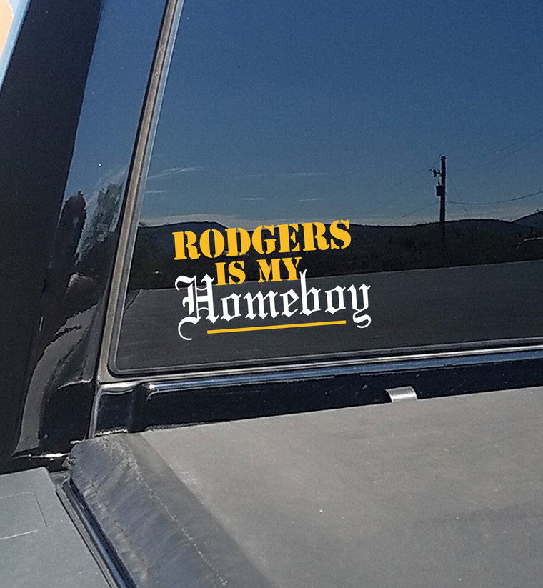 aaron rodgers window sticker