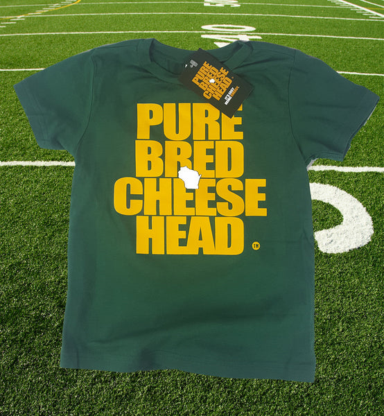 purebred cheesehead™ toddler t-shirt in tundra green