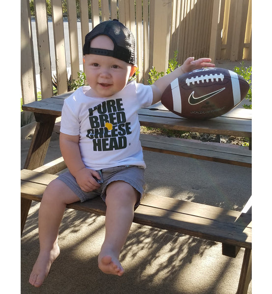 purebred cheesehead™ t-shirt in windchill white for infants and toddlers