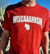 Wisconsin t-shirt on model