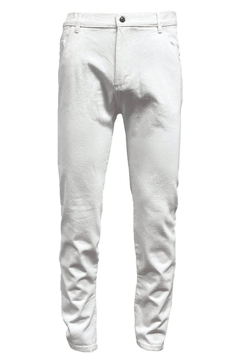 Off White Slim Tapered Jeans