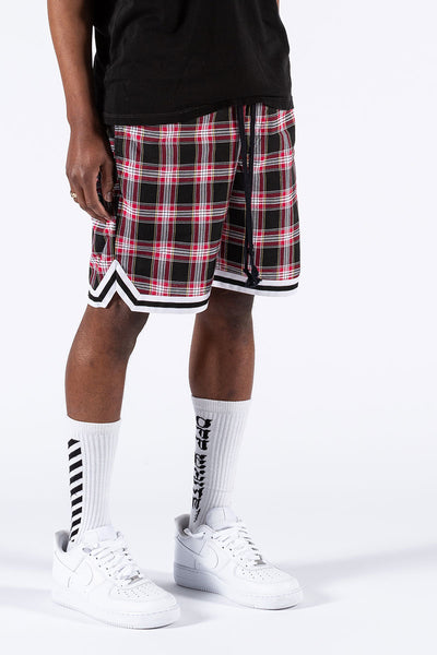 Red Plaid Basketball Shorts size XL ONLY
