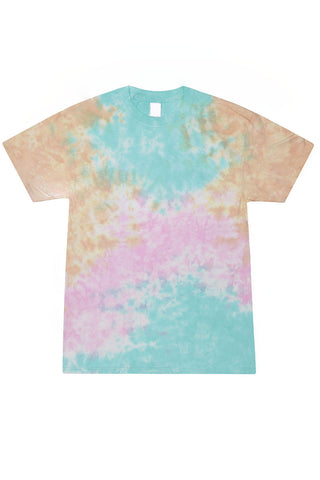 Turquoise Brown Tie Dye T-Shirt