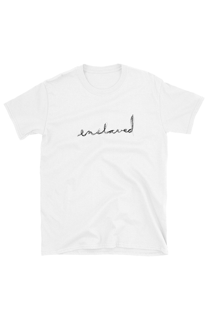 Scribble Logo Tee White+Black