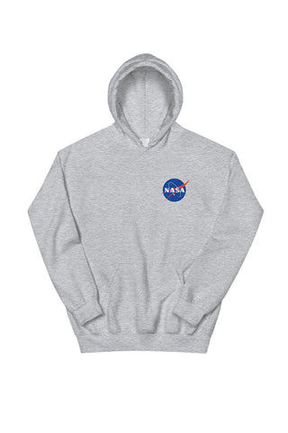 Nasa Logo Hoodie Heather Grey