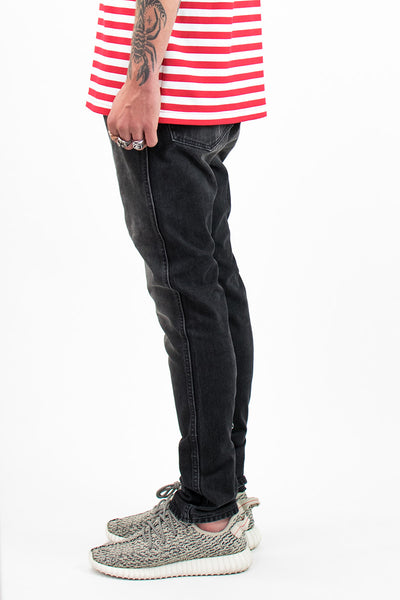 Big & Tall Vintage Black Tapered Jeans