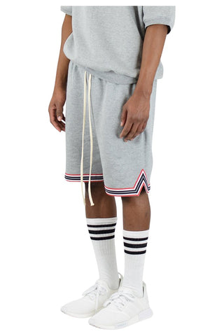 Heather Grey Fleece Basketball Shorts