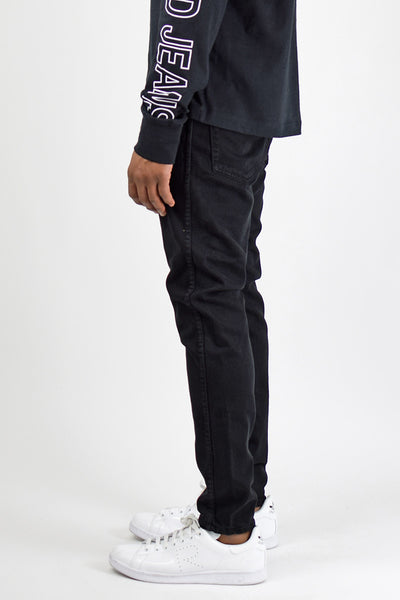 Black Slim Tapered Jeans