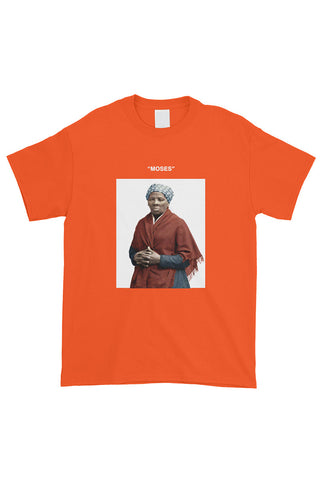 """MOSES"" Harriet Tubman Tee Orange"