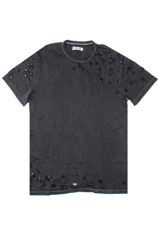 Vintage Black Ripped T-shirt