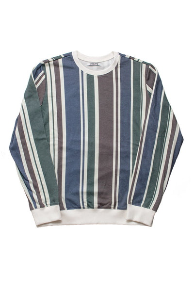 Retro Stripe Long Sleeve Crewneck