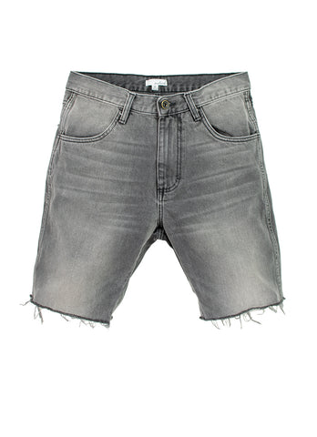 Vintage Grey Raw Edge Jean Shorts