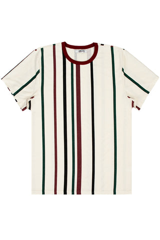Natural Burgundy Stripe T-Shirt