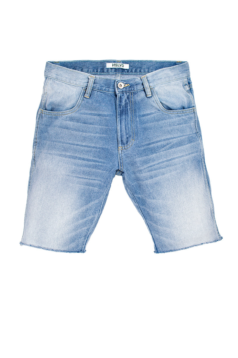 Vintage Raw Edge Denim Shorts