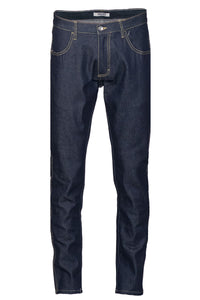 Tapered Raw Indigo Denim Jeans