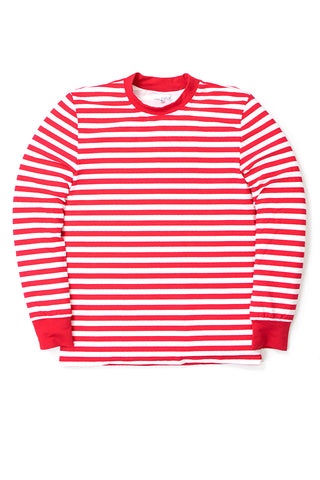 Red White Stripe Long Sleeve Shirt Size M Only
